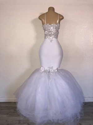 Designer Mermaid Strapless Prom Dresses Long With Appliques Online_2