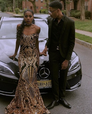 Glamourous Sheath Off The Shoulder Shining Gold Applique Exclusive Prom Dresses UK   New Styles_3