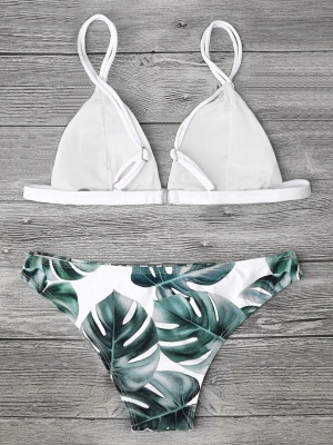Modern Women Triangle Floral Print Bikini Set_20