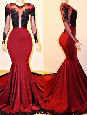 New Arrival Mermaid Sheer Prom Dresses UK With Sleeves_1