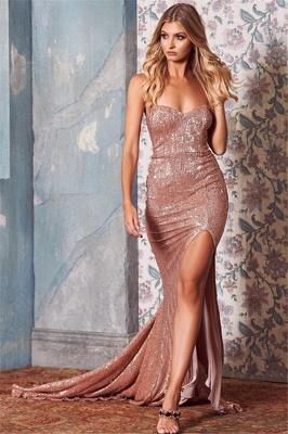 Sexy Sequins Side-Slit Long Prom Dresses | Strapless Trumpet Evening Dresses | Suzhou UK Online Shop_1