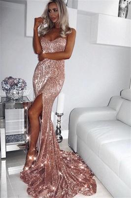 Sexy Sequins Side-Slit Long Prom Dresses | Strapless Trumpet Evening Dresses | Suzhou UK Online Shop_2