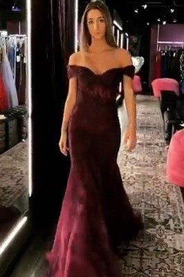 Trumpet Off-the-Shoulder Strapless Long Prom Dress | Suzhou UK Online Shop_1