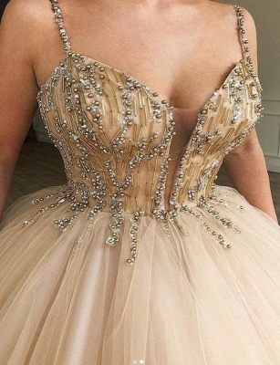 Beautiful Puffy Spaghetti Straps Beaded Exclusive Prom Dresses UK | New Styles_2