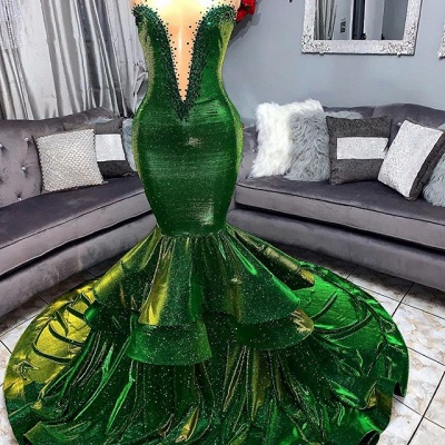 Pool Glamour Ruffles Trumpet Prom Dresses | Sexy Strapless Appliques Long Evening Dresses | Suzhou UK Online Shop_3