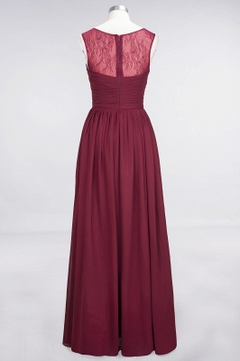 Elegant Chiffon Tulle Long Bridesmaid Dress With Ruffles Sleeveless_2