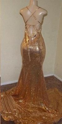 Sequins Summer Sleeveless Front Slit Floor Length Trumpet Dresses   Suzhou UK Online Shop_5