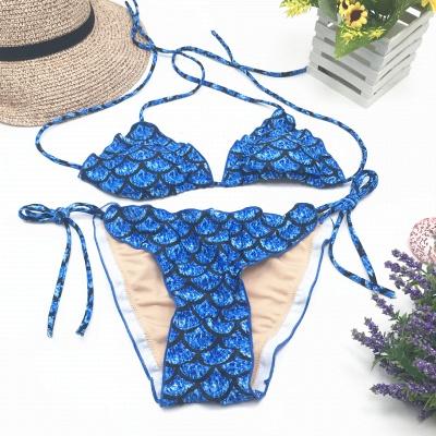 Fish-scale Patterns Two-piece Bandage Sexy Bikini Sets_6