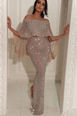Shiny Off-the-shoulder Long Trumpet Sequins Prom Dresses | Suzhou UK Online Shop_1