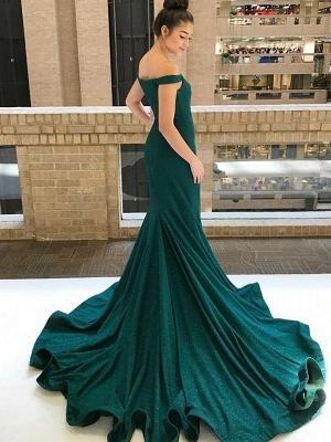 Glamorous One-shoulder Applique Prom Dresses Long Sleeves Side Slit Sexy Evening Dresses with Belt_3