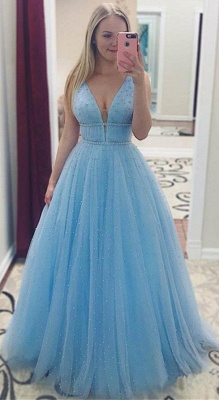 Glamorous Sequins Straps Prom Dresses | Sleeveless Evening Dresses with Beads