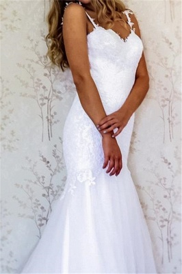 Sexy Appliques Straps Wedding Dresses | Backless Longsleeves Floral Bridal Gowns_2