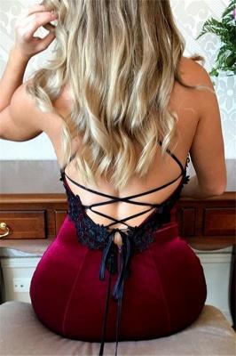 Lace Up Halter Applique Sleeveless Prom Dresses Mermaid  Popular Sexy Evening Dresses_3