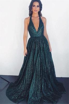 Amazing Dark Pool Halter Summer Sleeveless Princess A-line Prom Dress | Suzhou UK Online Shop_1