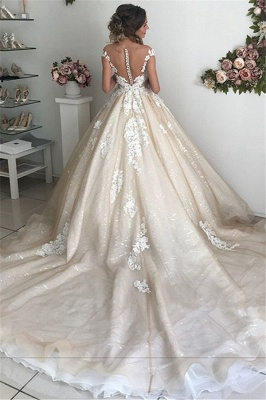 Sexy Applique Off-the-Shoulder Wedding Dresses | Sequins Backless Sleeveless Floral Bridal Gowns_3
