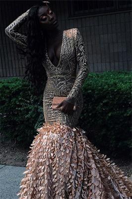 Amazing Sleeved Sexy Low Cut Applique Long Trumpet Prom Dresses   Suzhou UK Online Shop_2