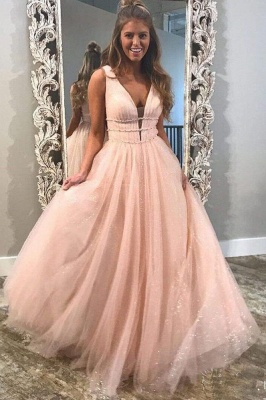 Glamorous Sequins Riboons Straps Prom Dresses | Ball Gown Sleeveless Evening Dresses with Beads_2