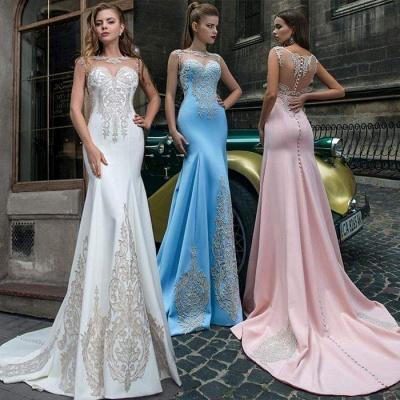 Pink Illusion Neckline Formal Dresses, Sky Blue Sheer Formal Dresses Online Sale | Suzhou UK Online Shop_2