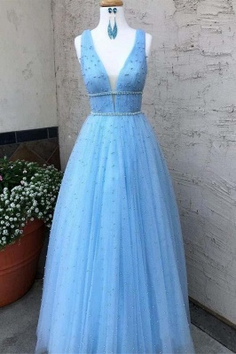 Glamorous Sequins Straps Prom Dresses   Sleeveless Evening Dresses with Beads_3