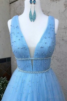 Glamorous Sequins Straps Prom Dresses   Sleeveless Evening Dresses with Beads_2