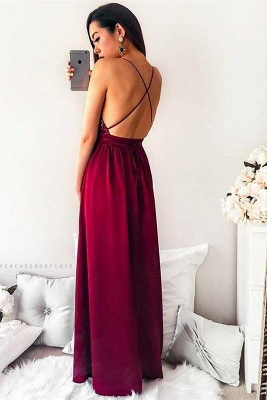 Sequins Lace Appliques Halter Prom Dresses | Side slit Sexy Mermaid Sleeveless Evening Dresses_3