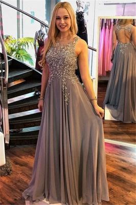 Glamorous Jewel Crystal Sleeveless Prom Dresses   Ruffles  Popular Evening Dresses_1