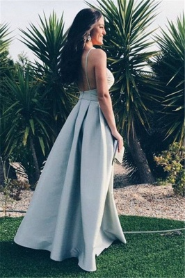 Glamorous Ruffle Backless Prom Dresses   Spaghetti-Strap  Sleeveless Evening Dresses_2