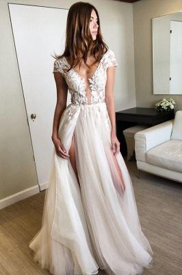 V-Neck Lace Appliques Prom Dresses | Sheer Sleeveless Evening Dresses_5