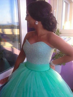Dark-Green Open Back Prom dresses Sleeveless Beads Sexy Evening Dresses_3