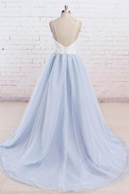Glamorous Spaghetti-Strap Lace Appliques Prom Dresses | A-Line Sleeveless Evening Dresses_3