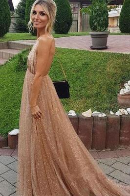 Squins Spaghetti-Strap Prom Dresses | Backless Sleeveless Evening Dresses_3