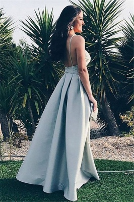 Glamorous Spaghetti Strap Ruffles Prom Dresses | Sleeveless Open Back Evening Dresses_2