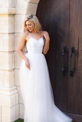 Glamorous Simple Spaghetti-Strap Prom Dresses | Sheer Cheap Backless Sleeveless Evening Dresses_3