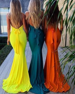 Sexy Halter Summer Sleeveless Trendy Backless Bowknot Trumpet Prom Dress | Suzhou UK Online Shop_2