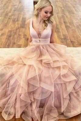 Glamorous Straps Prom Dresses |  Ruffle Sleeveless Evening Dresses_1