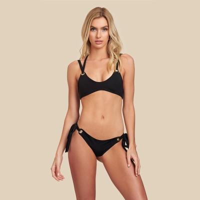 Black Bandage Chic Two-piece Bikini Swimwears_8