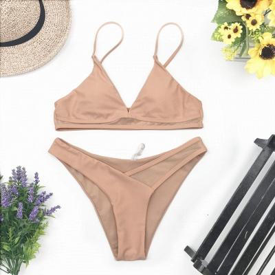 Sexy V-Neck Spaghetti Straps Two-piece Bikini Swimsuits_8