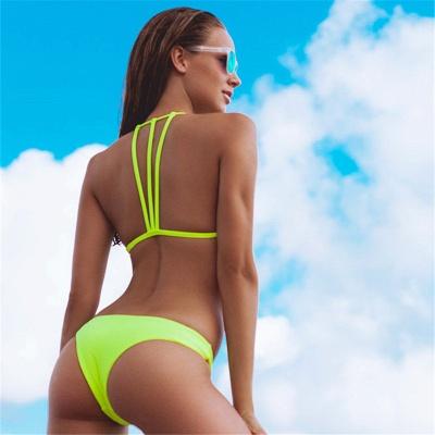 Sexy Scoop Halter Bandage Bikini Set_11