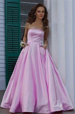 Burgundy Strapless Ruffles Prom Dresses Sleeveless Sexy Evening Dresses with Pocket_2