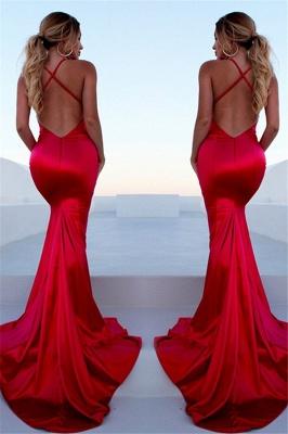 Glamorous Red Halter Lace Up Prom Dresses Sleeveless Ruffles Mermaid Side Slit Sexy Evening Dresses_2