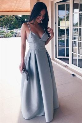 Glamorous Ruffle Backless Prom Dresses   Spaghetti-Strap  Sleeveless Evening Dresses_1