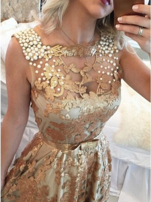Glamour Gold Straps Beaded Sequins Summer Sleeveless Prom Dress   Suzhou UK Online Shop_2
