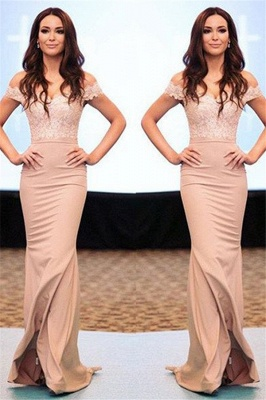 Lace Off-the-Shoulder Prom Dresses  Mermaid Sexy Evening Dresses_1