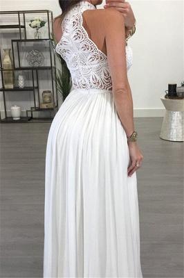 Lace Halter Sleeveless Ruffles Prom Dresses Popular  Sexy Evening Dresses_3