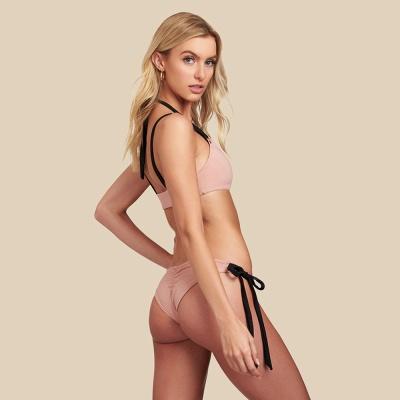 Black Bandage Chic Two-piece Bikini Swimwears_6
