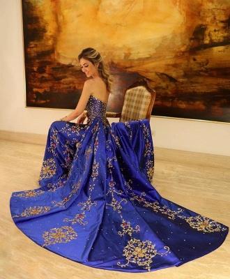 Glamour Strapless Applique Summer Sleeveless Princess A-line Long Prom Dress | Suzhou UK Online Shop_2