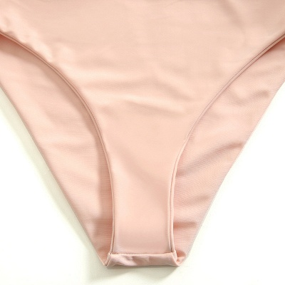 Vintage Nude Lovely Pink Knot Straps Two-piece Bikinis_6