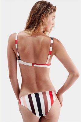 Stylish Stripes Spaghetti Straps Knot Two-piece Bikinis_5