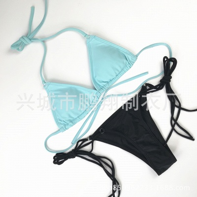 Multiple Colors Bikini Set Low Waist Swimwears_6