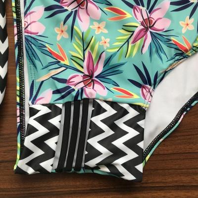 Floral Printed Wireless Padded Straps Bikinis_7
